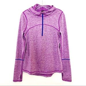 Zella Athletic Half Zip Pullover Fitted Hoodie M
